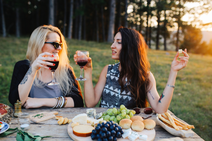 winogrona ciemne i jasne