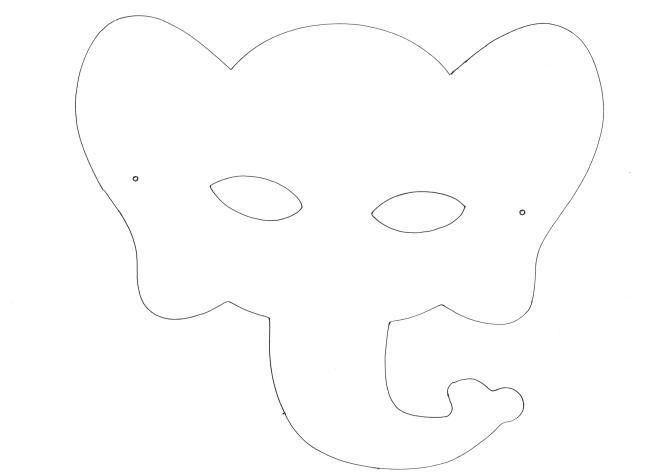 Szablon maska słoń