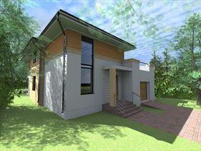 projekt domu do 150 m2, Euro-Projekt architekt Tomasz Jacyniewicz, Białystok