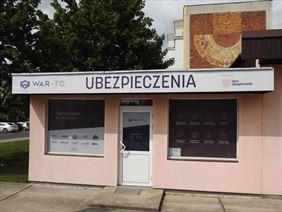 front budynku, War To Ubezpieczenia Marian Bułecki, Toruń