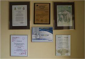 certyfikaty, Tospol Puh s.c., Grudziądz