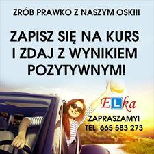 baner, Elka Ośrodek Szkolenia Kierowców Krzysztof Osmański, Kowalewo Pomorskie