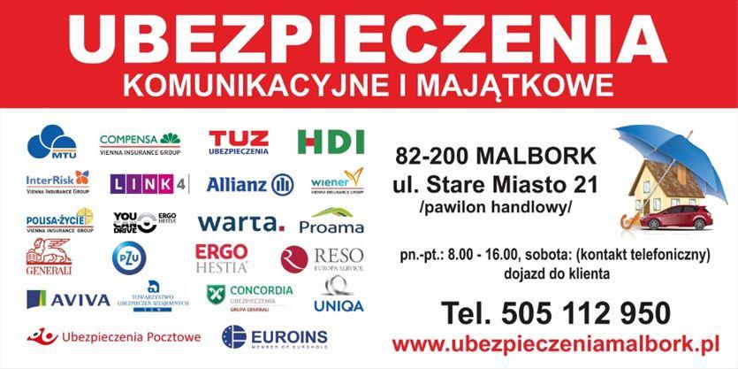 Ubezpieczenia komunikacyjne i majątkowe, Pośrednictwo Ubezpieczeniowe Ewa Falkiewicz, Malbork