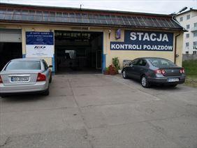 brama wjazdowa do samochodowej stacji kontroli pojazdów, JP Auto Serwis Jacek Pawłowski, Gdańsk