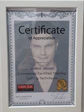certyfikat 4, Frisor Karolina Kwidzińska, Gowino