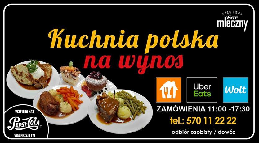 Smaczne dania według domowych przepisów, Bar Mleczny Stągiewna, Gdańsk
