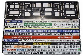 ramki indywidualne, Madox Nadruki na ramki pod tablice rejestracyjne sitodruk, Cieszyn