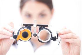 okulary do badania wady wzroku, Kinga Jach Gabinet okulistyczny, Myślenice