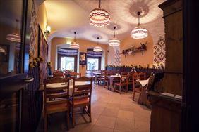 wnętrze restauracji, Restauracja Ukraińska, Kraków