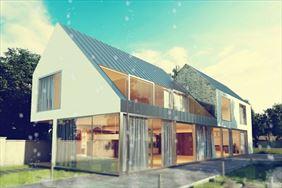 projekt domu w okolicy Rzeszowa, Jakub Kafel Cubicform Architektura, Kraków