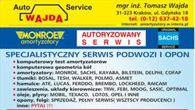 lista usług, Auto Service Amortyzatory Wajda, Kraków