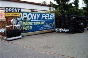 brama wjazdowa do firmy Danpol, Danpol - Opony i Felgi. Serwis klimatyzacji, Łódź