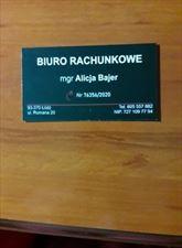 wizytówka, Alicja Bajer, Łódź