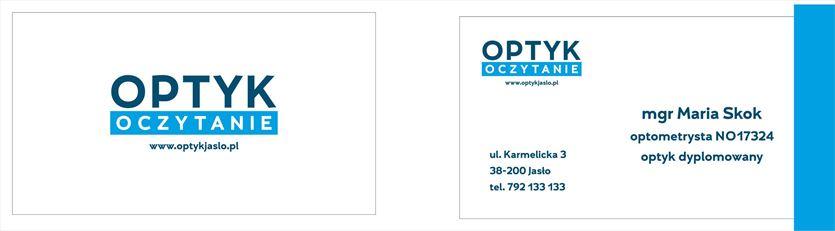 Nowoczesny salon optyczny, Optyk Oczytanie Maria Skok, Jasło