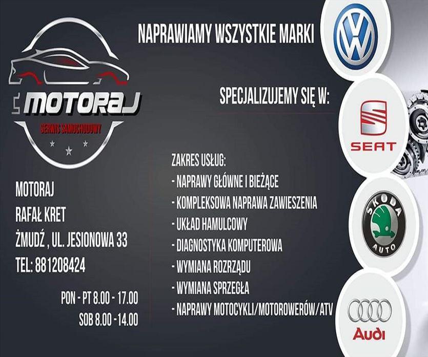 Profesjonalny warsztat samochodowy, Rafał Kret Moto - Raj, Żmudź