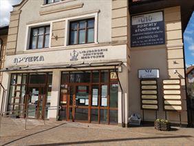 Wejście do LCM Eskulap, Eskulap Lidzbarskie Centrum Medyczne, Lidzbark Warmiński