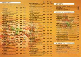 menu restauracji Pod Papugami, Płucienniczak Piotr Mała Gastronomia Pizzeria Pod Papugami, Turek
