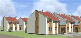 domy jednorodzinne w zabudowie szeregowej, Karol Wegner Pracownia architektoniczna, Gniezno
