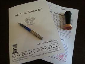 akt notarialny, Kancelaria Notarialna Agnieszka Jankowska, Stargard