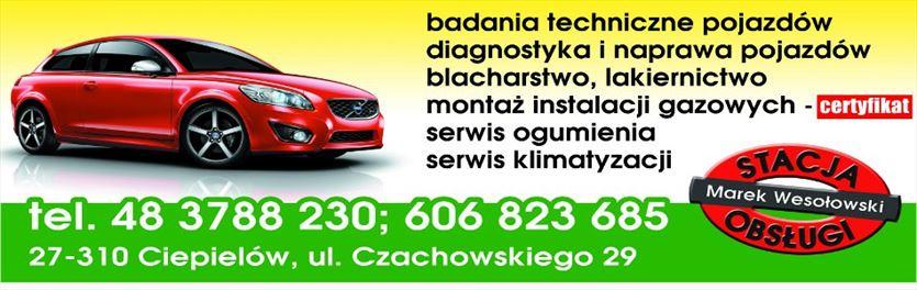 Zajmujemy się mechaniką samochodową, wulkanizacją i klimatyzacją , Marek Wesołowski Stacja obsługi pojazdów samochodowych, Ciepielów