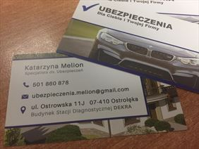 wizytówka, Ubezpieczenia Dla Ciebie I Twojej Firmy Dariusz Melion, Ostrołęka