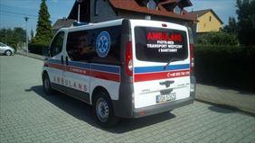 karetka z wyposażeniem medycznym, Piotr-med transport medyczny i sanitarny, Chwalibożyce