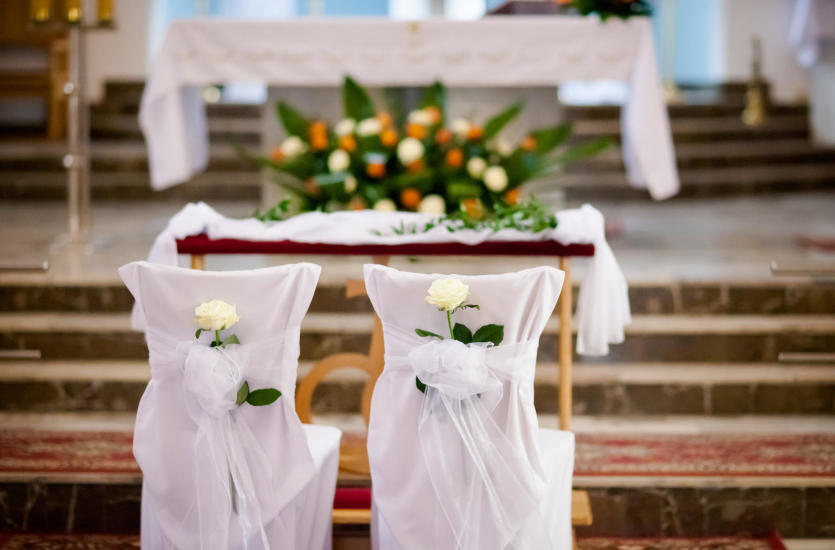 Profesjonalne Usługi Florystyczne ślubne Dekoracje W Kościele