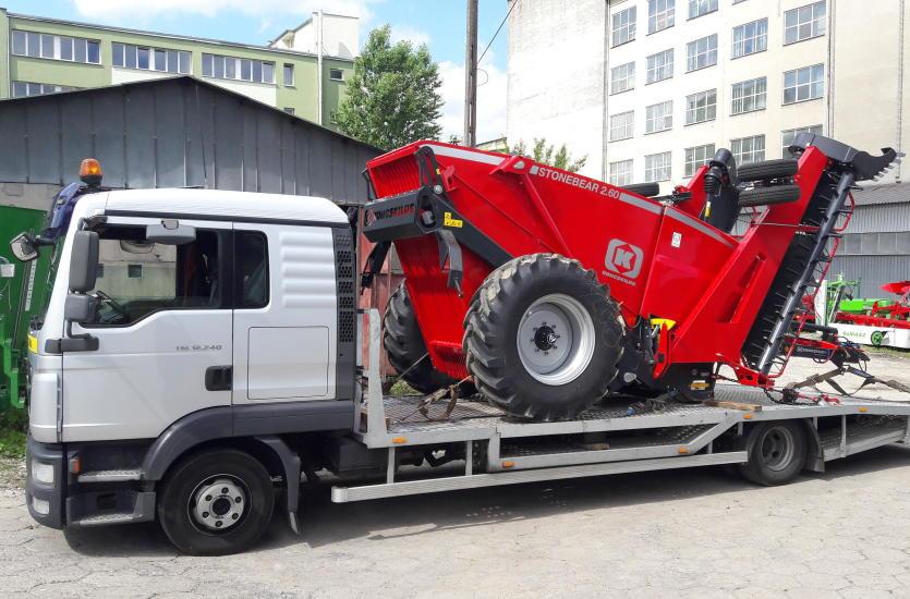 Masywnie Transport maszyn budowlanych i rolniczych QF96