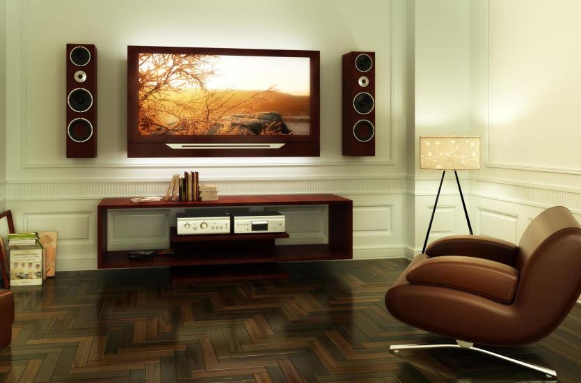 Профессиональный домашний кинотеатр в гостиной - как разместить колонки и где лучше всего повесить телевизор?