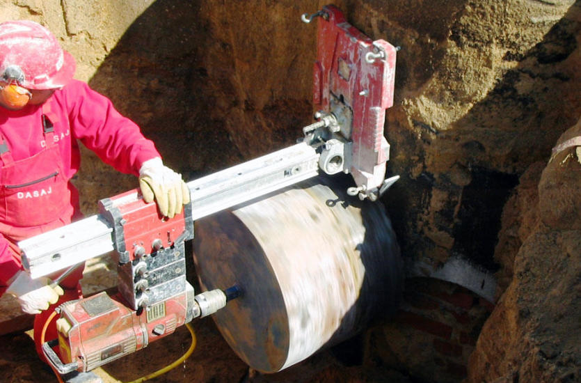 Какие алмазные инструменты используются при обработке бетона?