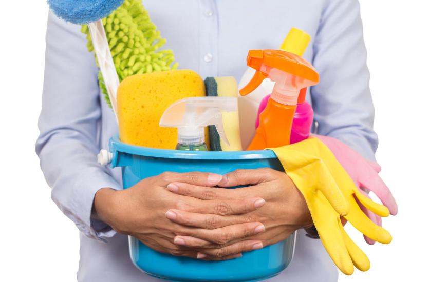 Akcesoria do sprzątania. Zestaw materiałów