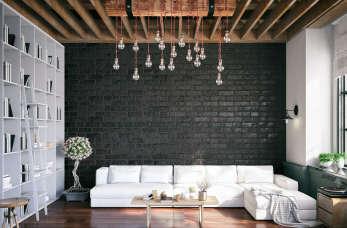 Zastosowanie cegły ozdobnej w dekoracji wnętrz.
