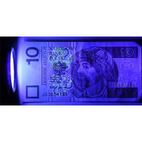 Latarka UV 41 LED diodowa tester banknotów i uranium