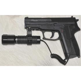 Latarka taktyczna wojskowa policyjna asg LED 500 lm do broni ładowalna wyłącznik żelowy