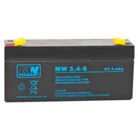 Akumulator żelowy AGM MW 6V/3,4Ah