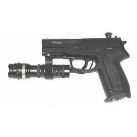 Latarka taktyczna wojskowa policyjna asg do broni LED 500 lm BL-Q8483 gmglite ładowalna wyłącznik żelowy