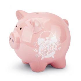 Skarbonka świnka zapłać karę za spóznienie do prac