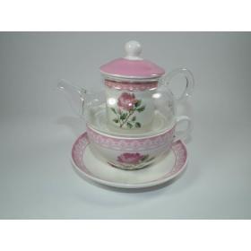 Kpl.do herbaty TZ003-FR036B róża