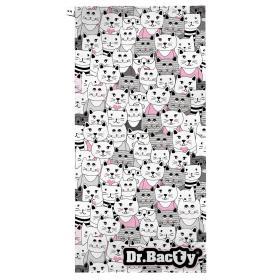 Szybkoschnący ręcznik treningowy Dr.Bacty - Kotki białe