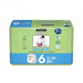MUUMI Pieluchomajtki ekologiczne 6 Junior dla dziecka o wadze 12-20kg 20szt.