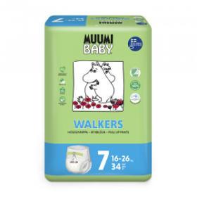 MUUMI Pieluchomajtki ekologiczne 7 XL dla dzieci o wadze 16-26kg 34szt.
