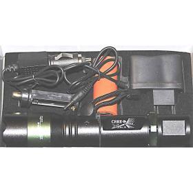 Latarka policyjna wojskowa taktyczna LED T6 BL1828 ładowalna 12V i 230V