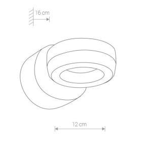 Kinkiet zewnętrzny pierścień DONUT LED 6W IP54 czarny