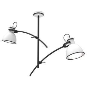 Lampa sufitowa nowoczesna ZUMBA II biały/czarny śr. 64cm