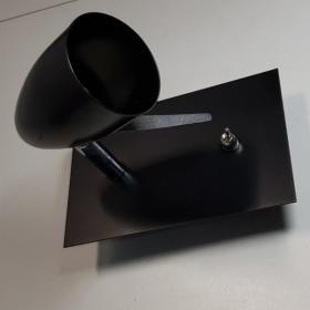 Kinkiet IAN czarny z włącznikiem