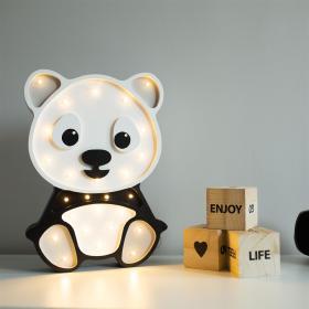 Lights My Love drewniana lampka nocna do pokoju dziecka Panda