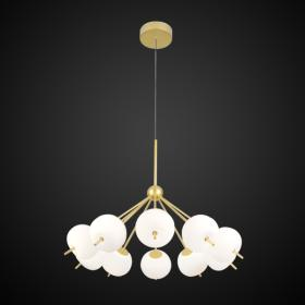 ALTAVOLA DESIGN: Ekskluzywna lampa LED wisząca złoto biała – APPLE 10