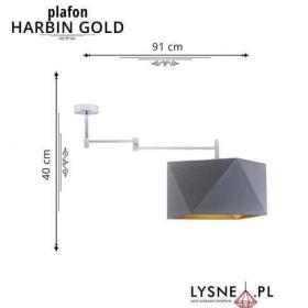 Nowoczesny plafon HARBIN GOLD