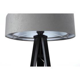 Lampa podłogowa stojąca asymetryczna welurowa Tami Szaro-Biała