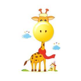 Lampa dziecięca Żyrafa GIRAFFE 3xAAA